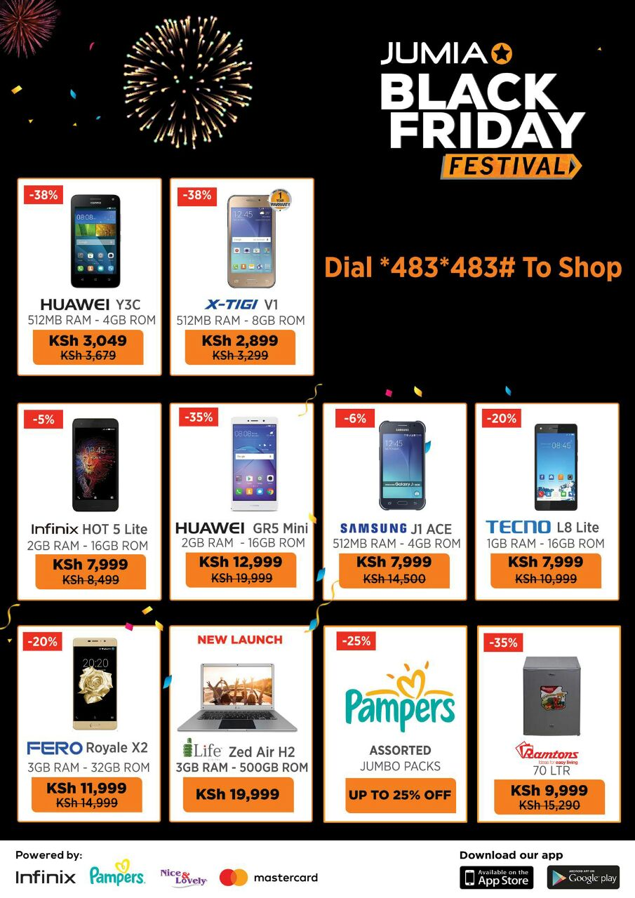 Safaricom Jumia Ink Black Friday Discounts Dhahabu